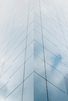 Low angle building with glass design