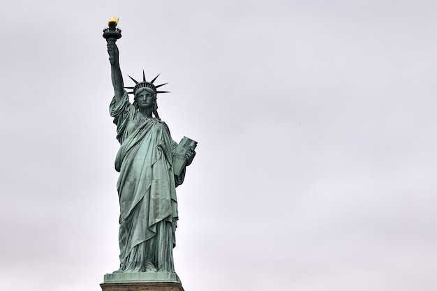 Low angle shot of the amazing statue of liberty in new york, usa Free Photo