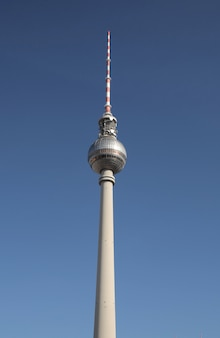 Low angle shot of berliner fernsehturm in berlin, germany