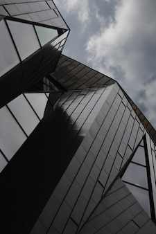 A low angle shot of a modern building