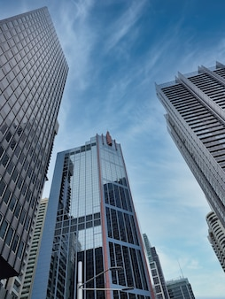 Низкий угол выстрела современной архитектуры из австралии, сидней