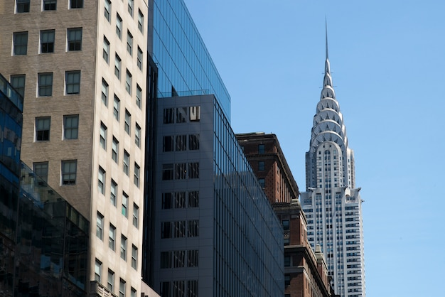 Low angle view of buildings, chrysler building, manhattan, new york city, new york state, usa