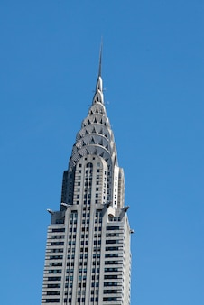 Low angle view of the chrysler building, midtown, manhattan, new york city, new york state, usa