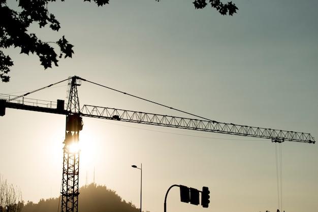 Low angle view of a crane, santiago, santiago metropolitan region, chile