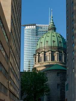 Low angle view of mary queen of the world cathedral, montreal, quebec, canada