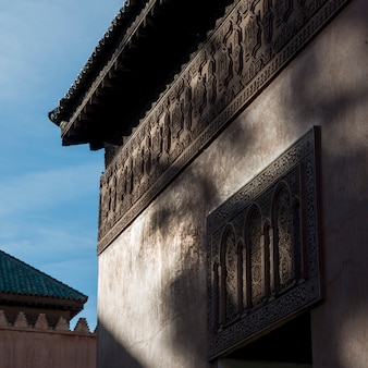 Low angle view of a mausoleum, saadian tombs, marrakesh, morocco