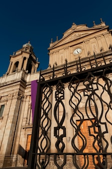 Low angle view of the metropolitan cathedral, zona 1, guatemala city, guatemala