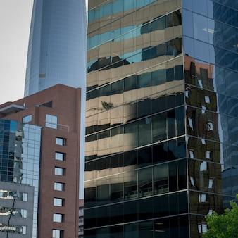 Low angle view of modern buildings, santiago, santiago metropolitan region, chile