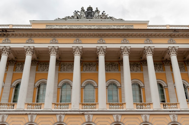 Low angle view of the museum, mikhailovsky palace, st. petersburg, russia