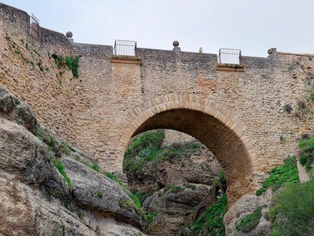 Low angle view of old bridge of ronda