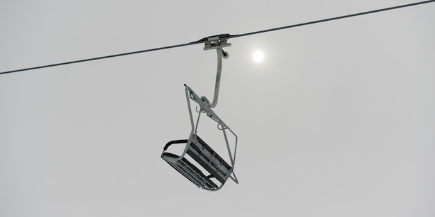 Low angle view of a ski lift, symphony amphitheatre, whistler, british columbia, canada