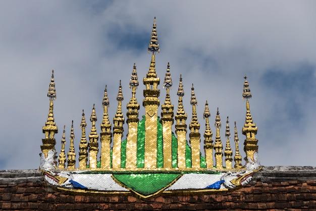 Low angle view of wat xieng thong temple, luang prabang, laos