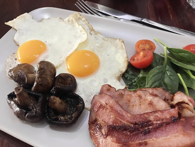 Low carb high fat, ketogenic diet food, healthy breakfast