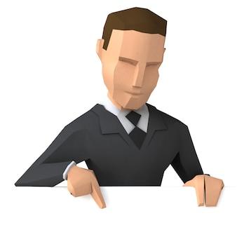 低ポリビジネスマン3 dイラストレーション