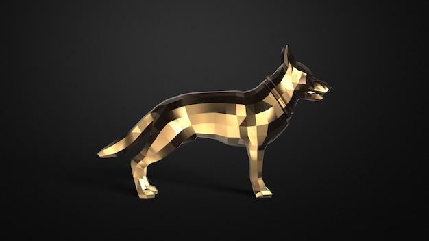 Низкополигональная собака в стиле треугольника