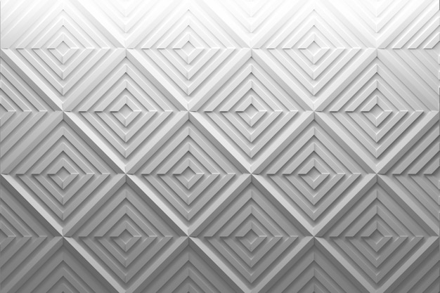 Low poly geometric white pattern with displaced squares