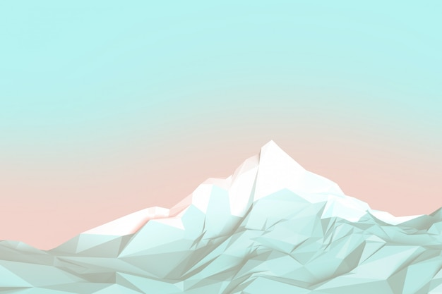 Low-poly mountains