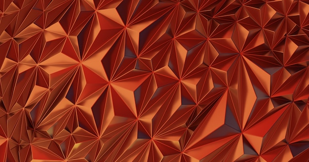 Low poly polygonal pattern. iridescent shiny background abstract with copy space 3d render illustration