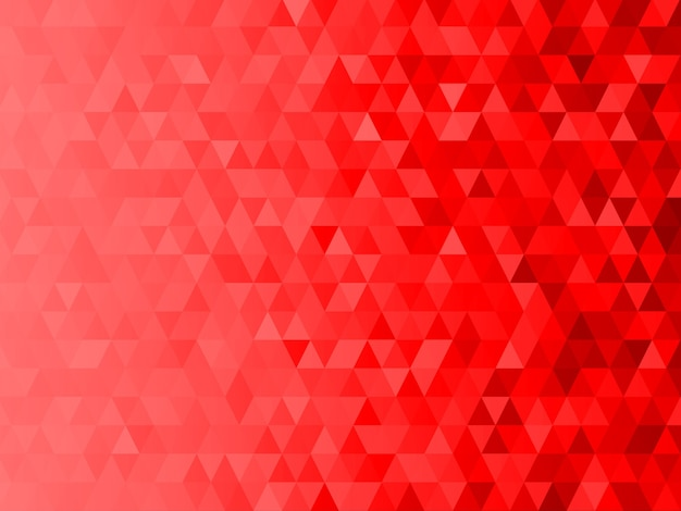 Low polygon mosaic graphic background with red christmas theme