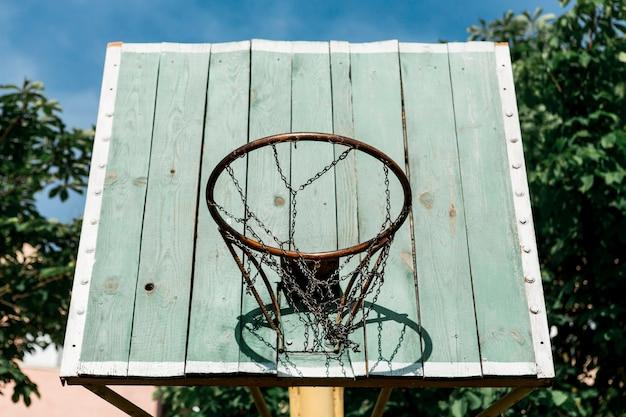 Low view basketball hoop