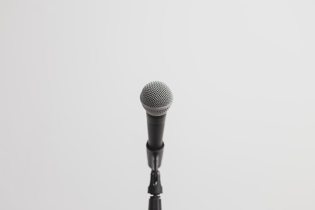 Low view of a microphone