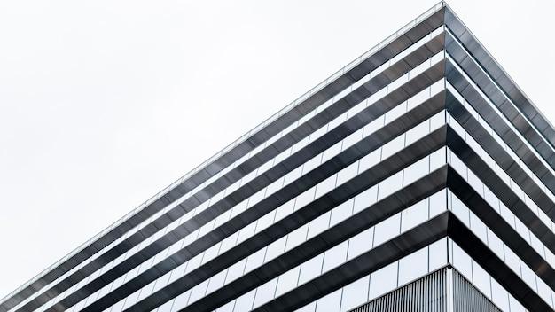 낮은보기 현대적인 고층 빌딩 사무실 건물