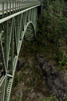 Lower part of deception pass bridge, deception pass state park, washington state, usa