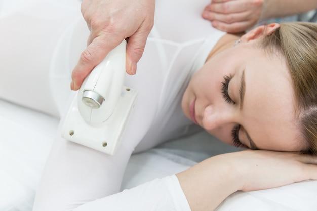 Lpg massage of hands and shoulders.