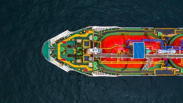 船タンカーガスlpg、空撮液化石油ガス