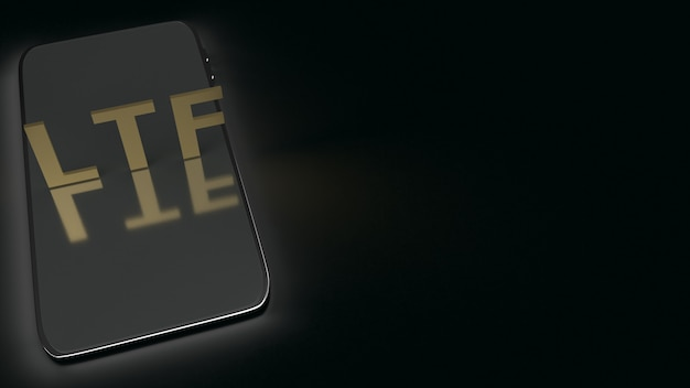 暗いトーン、3 dレンダリングで携帯電話のltf。