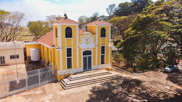 ルアスアントニオサンパウロブラジル-2021年8月9日:ルアスアントニオsp市のサンタルジア教区教会