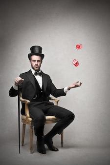 Lucky elegant businessman