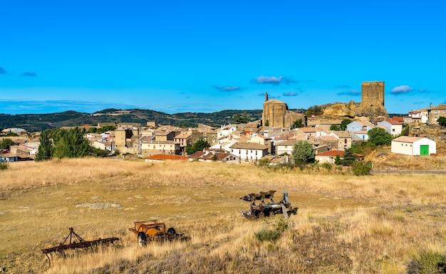 Luesia town in zaragoza province of spain