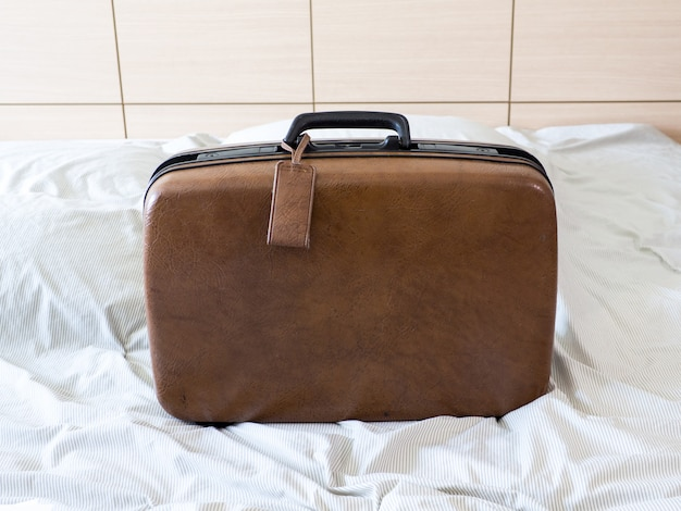 Luggage suitcase pack  clothes ready to vacation weekend travel