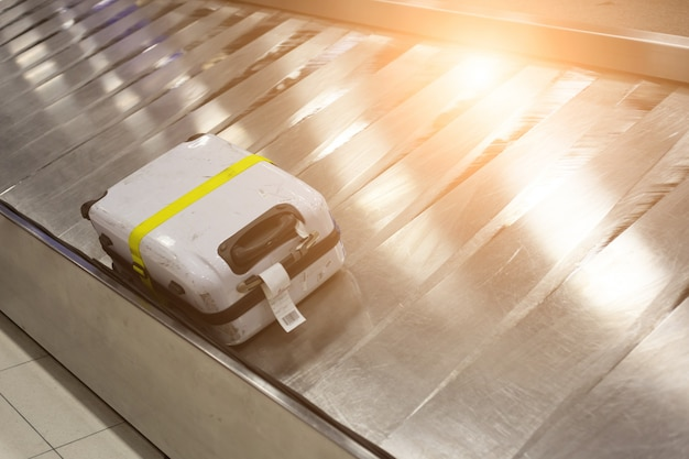 Luggage on the track  in the airport