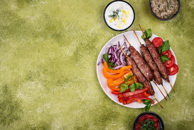 Люля кебаб, традиционное турецкое или кавказское блюдо