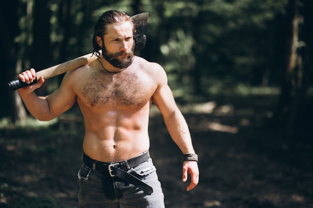 Lumberjack with an axe