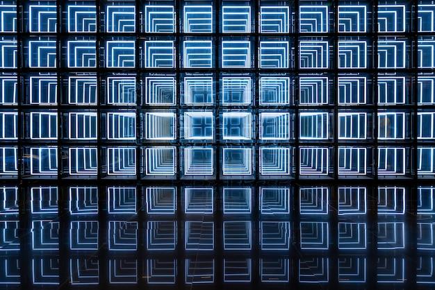 Световой технологический фон стены