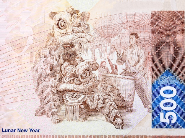 Lunar new year from hong kong money
