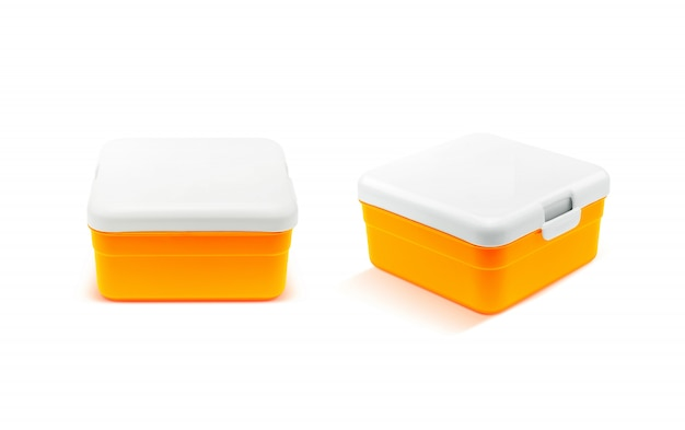 Lunch box isolated