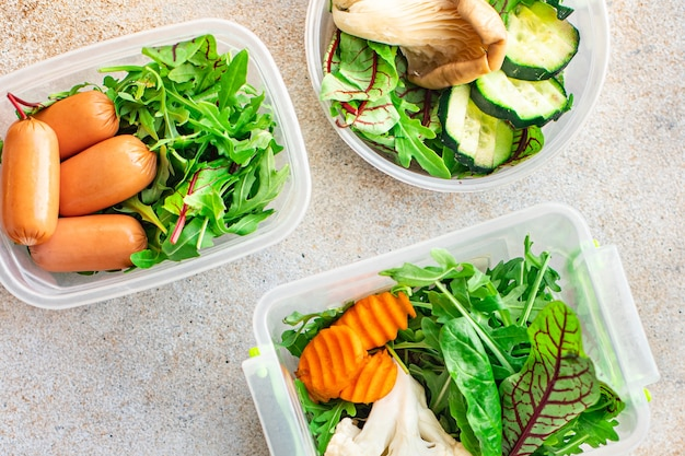 Ланч-бокс порция здоровая еда еда органическая диета еда свежее приготовление пищевой контейнер