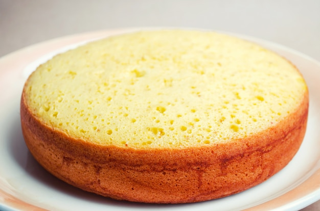 Lush and tall classic biscuit cake, billet for a cake. pie, homemade cakes, cakes to order