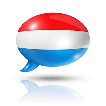 Люксембург флаг речевой пузырь