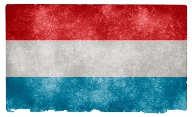 Luxembourg grunge flag