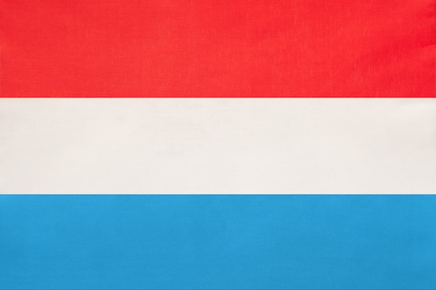 Luxembourg national fabric flag, symbol of international world european country.