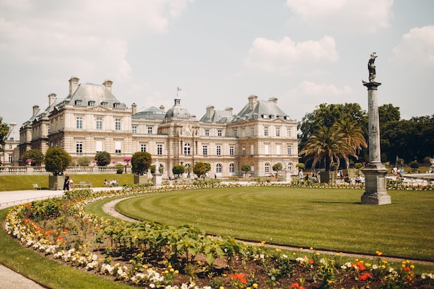 Luxembourg palace, luxembourg gardens, paris, france