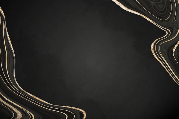 Luxurious black marble background with gold lining