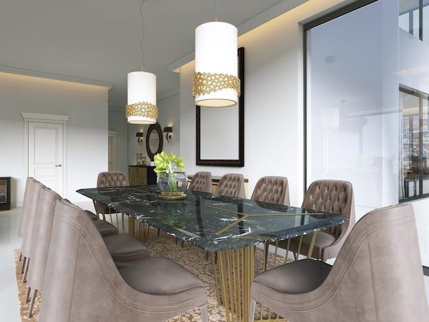 Luxurious dining room. 3d rendering