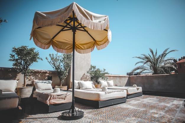 Luxurious hotel terrace
