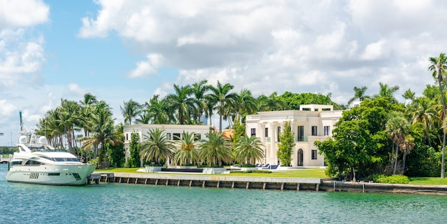 Luxurious mansion in miami beach, florida, usa